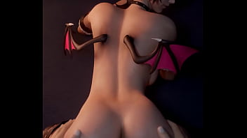 3d hentai succubus girl bends over to get some cock