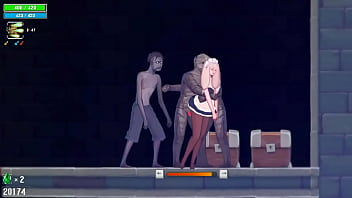 Pretty woman hentai in sex with man and monster in adult animation game