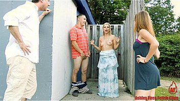 Bokep Couple fucks ouside and are joined by another