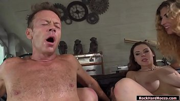 Rocco Siffredi gets his huge cock sucked off by Shona River Candy Red n Sofia Curly.He lines them up above each other to to lick them and then facesits one to get his ass licked.He anal fucks one and gives a girl an ass2mouth before anal fucking her