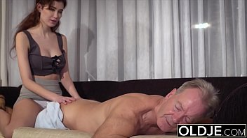 Teenager wants old man to fuck her sweet tight vagina