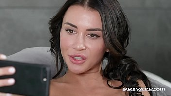 Video Ngentot Sexy Dark Haired Katrin Tequila takes one white cock & one black cock until she is double penetrated in her tiny butthole & in her juicy wet pussy! Full Flick & Much More at Private.com!