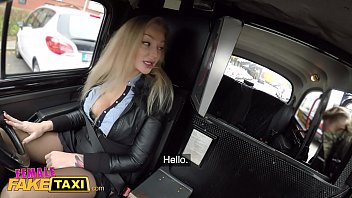 Female Fake Taxi she blonde with big tits and wants his cock