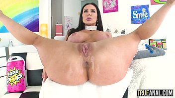 Beautiful brunette mom has her ass licked then fucked by a big cock