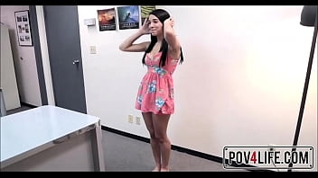 Young Latina Teen Mia Hurley Sex With Guy At Video Shoot POV