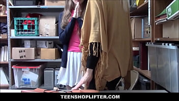 XXX Hot Teenage Girl And Her Grandma Caught Stealing Both Fucked By Officer