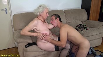 Bokep hairy 91 years old granny gets deep banged by her young big cock toyboy