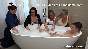 Four Grandmams Take Turns To Fuck Me - Orgy