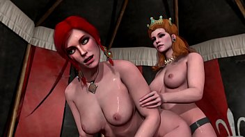 Witcher 3 lesbian scene. Old video.