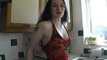 Bokep Tilly plays with herself in the kitchen