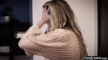 Bokep Blonde teen sees her 2nd cousin after quite a while.Shes stressed out cause of her feelings for him.When she finally tells they start to kiss.they get naked and shes fingered while throating his hard cock.He then doggystyles her hard