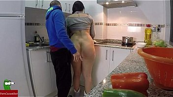 Bokep Fucking while making food in the kitchen IV001