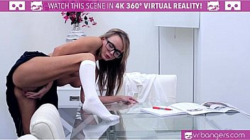 Bokep Sex VRBangers.com HORNY Pristine Edge touching her PUSSY while studying