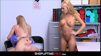 Big Tits Blonde MILF Step Mom Caught Shoplifting With Teen Step Daughter