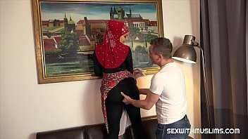 XXX Porn Nice Muslim girl with big boobs and angel face. She wears nice dress, shrouded in red hijab. Big boobs Chloe cleansed at home. Her husband watched at her great body and then she sucked his cock.   He ejaculated od her boobs