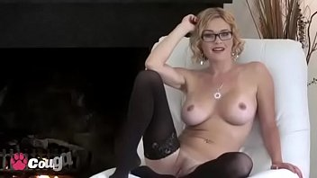 Sexy Canadian Janessa Jordan Pounds Her Pussy In Stockings & Heels