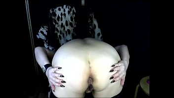 Russian mature m. playfully spreads her buttocks and plays with her back hole ...))