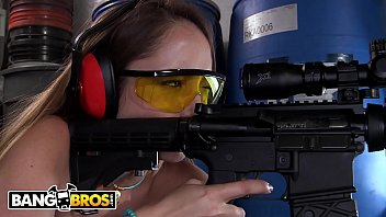 BANGBROS - Watch Her Big Ass Shake As She Fires A Few Rounds At The Range