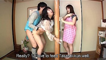 Bokep Subtitled Japanese risky sex with voluptuous mother in law