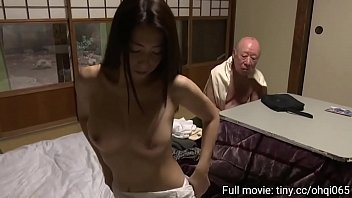 a lewd wife blows her father-in-law when her husband is not at home