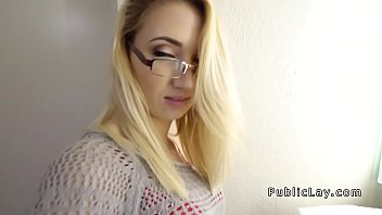 Cutie in glasses picked up in public