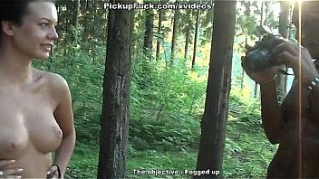 Bokep Titted brunette developed on a blowjob in the woods