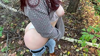 Outdoor BlowJob in the forest from sexy wife KleoModel