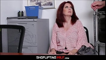 Thick Big Ass Big Tits Red Head MILF Caught Shoplifting Sex With Guard To Avoid Jail