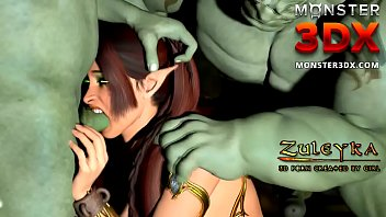 Elven Queen fucked hard by powerful ogre. 3D Porn cartoon