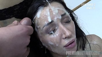 Bokep A gorgeous Russian brunette amateur with perfect fit body drinks more than 70 huge cum loads after receiving tens of mouthful and facial cumshots