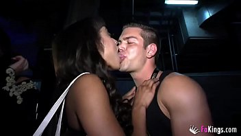 XXX English girls gone wild in a Sex Expo with two Spanish Studs