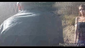 Bokep Hot booty immigrant teased by border cop