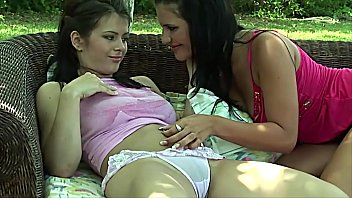 Porno Two blonde lesbian girl gets into licking