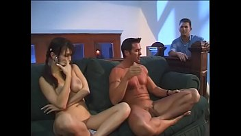 Young brunette with big tits Kianna Bradley instead of yoga fucked with two macho