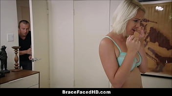 Bokep Young Blonde Step Sister Wears Braces And Big Brother Loves It