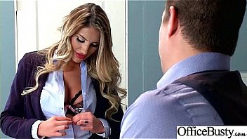 Sex Tape With Slut Busty Hot Office Nasty Girl (August Ames) video-07