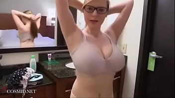 Strip tease and bra tryouts with Amanda Love