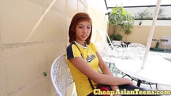 Young and cute Asian teen fucked for a few bucks in the Philippines