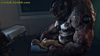 Lara Crft getting fucked by hulking Monster in evil experiment 3D Animation