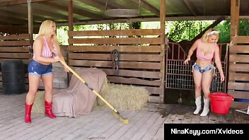 Thick Ranch Babes, Nina Kayy & Karen Fisher, fill their sweaty cock garages with a bucking big black cock cowboy! Full Video & Nina Live @ NinaKayy.com!