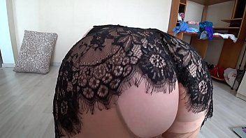 Milf doggystyle shakes a juicy butt in pantyhose, fat lesbians with big tits and big ass POV.