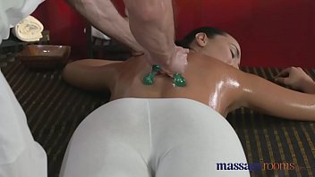 Massage Rooms y. masseuse is licked and fucked by older man