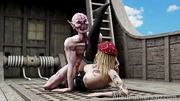 Pirate Girl fucked by Alien Creature. 3D Hentai