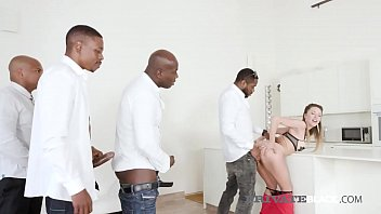Bokep Black Cock Hungry Paulina Soul gets all her pretty white holes stuffed by 4 huge ebony dicks in this crazy interracial orgy gone wild with DP's & facials! Full flick & 100's more at PrivateBlack.com!