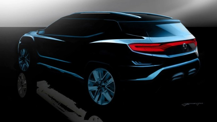 ssangyong xavl suv teased - cars.co.za