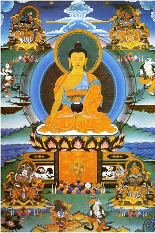 佛教35佛畫像 Entertainment 右手按地 左手定印。