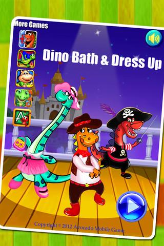 Dino Bath  Dress Up LITE 10 App for iPad iPhone