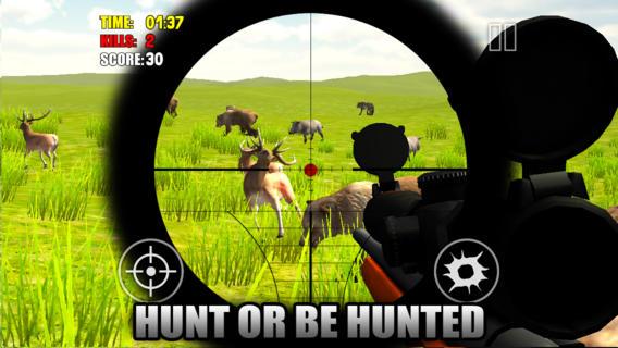 Animal Hunter 2014 3d  Sniper Shooting Gun Down Deer