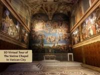 Sistine Chapel 3D Interactive Virtual Tour - Vatican City ...