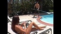 Bokep Licentious housewife Cheyenne Hunter with big knockers makes pool cleaner to polish her holes with hard rod
